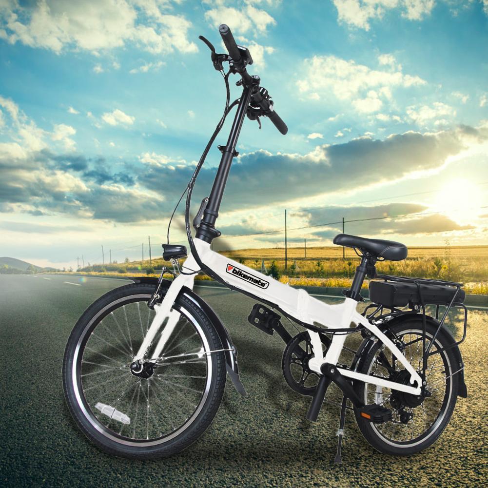 Batería de litio de bicicleta eléctrica plegable para adulto y mujer, escúter ligero y práctico, Scooter pequeña de hasta 50 Km de edad