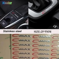 2pcs stainless steel car body sticker for ford cmax c max