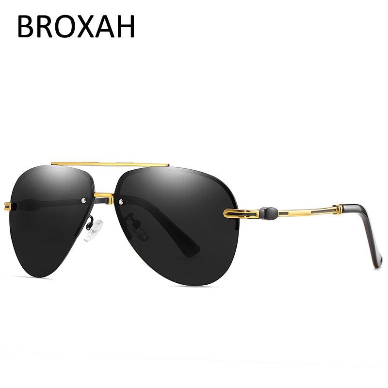Модные поляризованные солнцезащитные очки мужские 2019, очки для вождения, мужские солнцезащитные очки-авиаторы Металлические оттенки UV400 ...