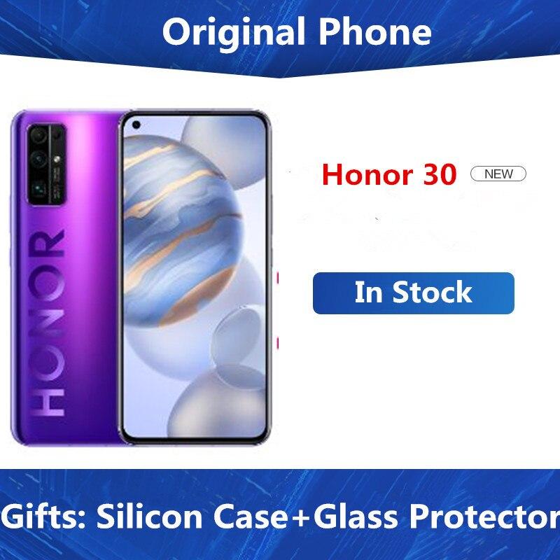 """Telefone celular honor 30 5g, ios 985 android 10.0 6.53 """"oled 8gb ram 256 carregador super do zoom de 50x do 40.0mp 40w rom"""