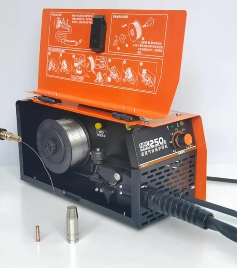 RU تسليم غاز ثاني أكسيد الكربون محمية آلة لحام آلة متكاملة صغيرة اثنين آلة لحام 220 فولت المنزل خالية من الغاز