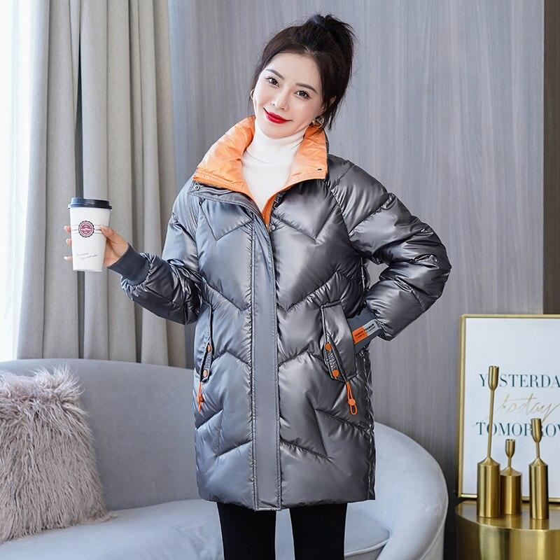 سترة شتوية للسيدات من ISENMAL باركاس موضة جديدة لعام 2021 معطف ضيق للشباب مع اغطية معطف للخريف والشتاء غير رسمي دافئ للنساء