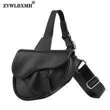 ZYWLBXMH Saddle Bag Flap Pocket Shoulder Bag Solid Color Messenger Bag Zipper Hasp Messenger Bags Wa