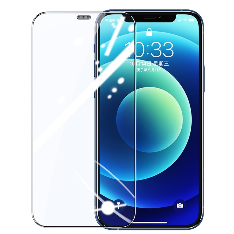 9H Screen Tempered Glass Iphone 12 Mini Pro Max 5 5s 6 6s 7 8 Plus Screen Protector Iphone X Xs Xr X