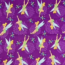 Beautiful Dress Fabric 100%Cotton Fabric Purple Bottom Fairy ELF Digital Printing Fabric Sewing Material For DIY Child Clothing
