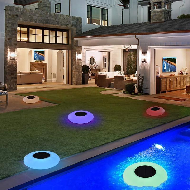 luz conduzida solar outdoorpool lightled colorido inflavel piscina luz flutuante