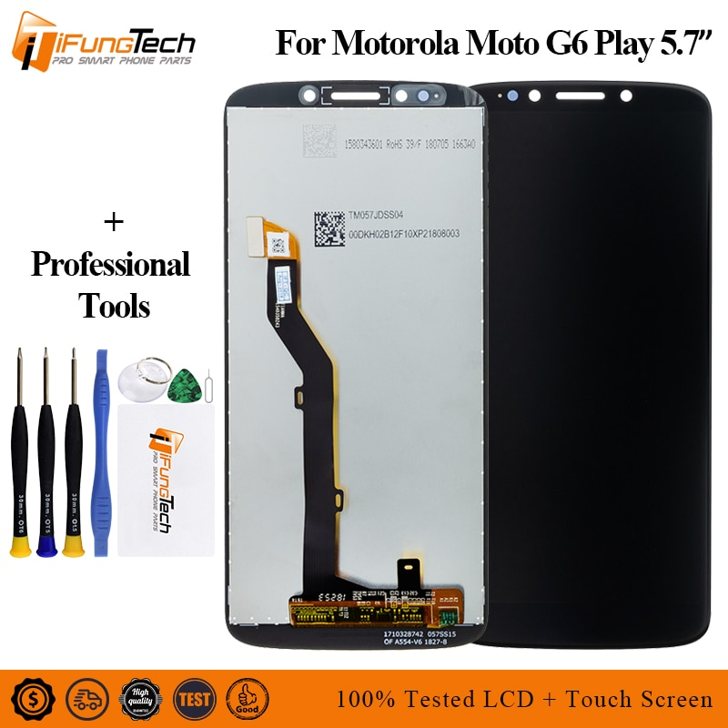 For Motorola Moto G6 Play LCD Display Touch Screen Panel for XT1922 Mobile Phone Lcds Digitizer Asse