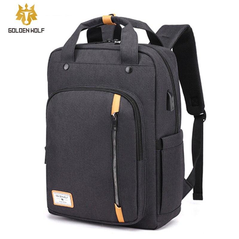 Goloen Wolf-حقيبة ظهر للسفر للرجال والنساء ، حقيبة مدرسية للمراهقين ، حقيبة ظهر للرجال ، حقائب ترفيهية ، حقائب ظهر للنساء