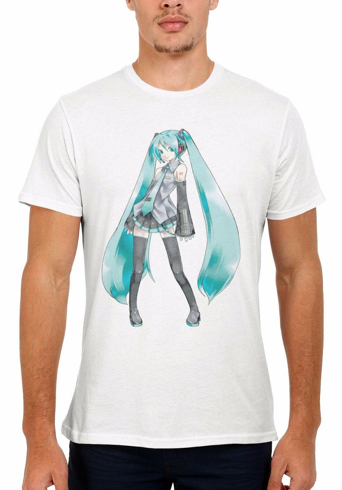 Hatsune Miku Violet Manga Anime Cool Men Women Vest  Unisex T Shirt 151ECartoon t shirt men Unisex New Fashion tshirt
