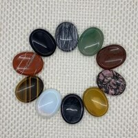 natural stone beads colored oval black agate green aventurine depressed non porous beads diy making jewelry necklace accessories