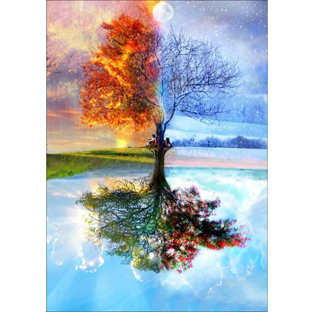 DIY 5D алмазная живопись четыре сезона дерево Вышивка крестом полная дрель Алмазная вышивка шаблоны Алмазная мозаика домашний декор
