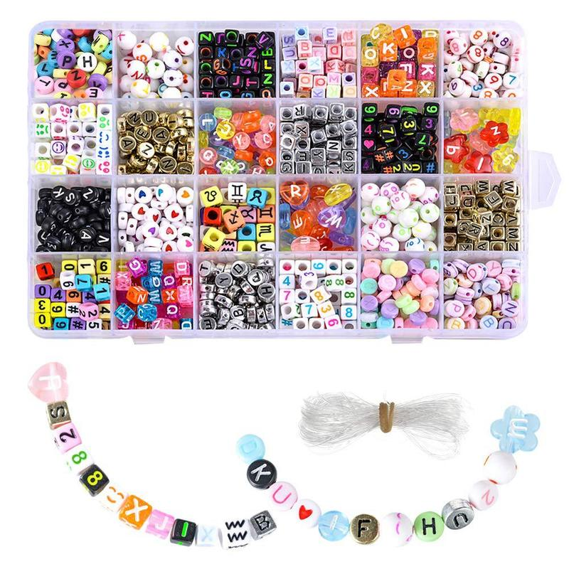 aliexpress.com - DIY Letter Bead Set Handmade Beaded Toy Making Bracelet Necklace Accessories Craft Set Christmas Party Decoration Girl Toy Gift