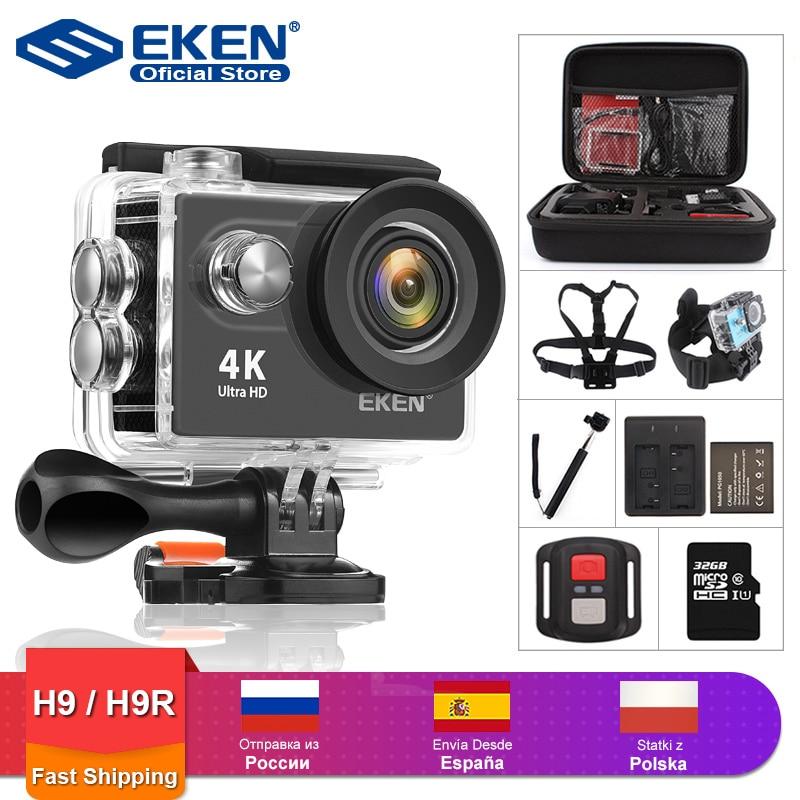 EKEN H9R H9 عمل كاميرا الترا HD 4K 30fps واي فاي 2.0 بوصة 170D تحت الماء مقاوم للماء خوذة تسجيل الفيديو كاميرات كاميرا رياضية