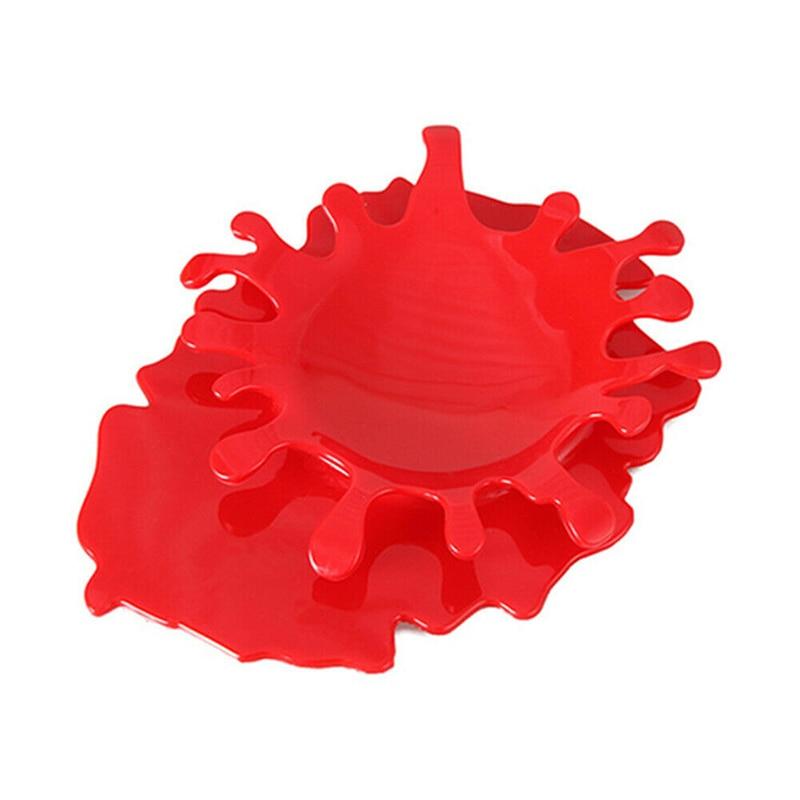 Soporte de plástico para cuchara con forma de Ketchup organizador de 4 colores para salpicaduras de sangre SNO88