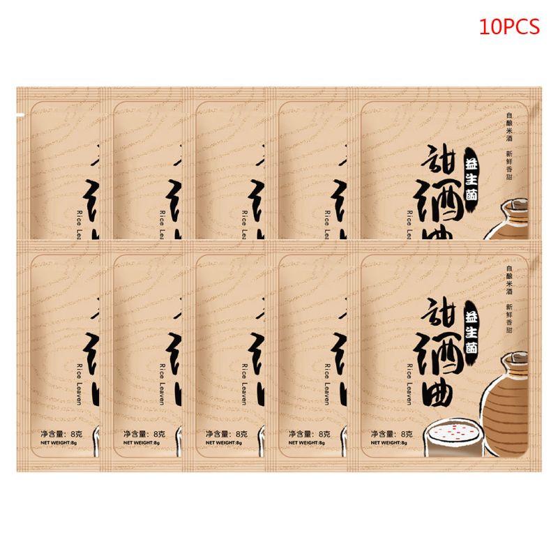 8g x 10 sacos probióticos chinês arroz vinho fermentação fermento fermento fermento starter diy fazendo r66b