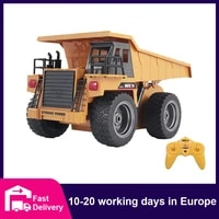 huina 118 rc truck dumper caterpillar alloy tractor model engineering cars excavator 2 4ghz radio controlled car toys for boys