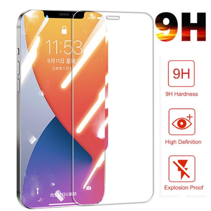 Protector de pantalla de vidrio templado 9H para iPhone 12, Mini 11...