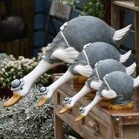 cute resin ornaments home decoration artificial garden sculpture animal statue simulation pond decor landscape crafts home decor