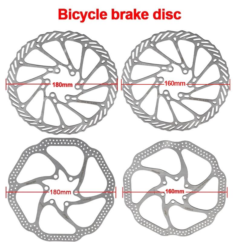 G3  Bicycle Brake CS Sweep Disc Brake Block Lining Rotors MTB Bike Brake Pad160/180/203mm With6 /12Bolts System Disc Bike Parts