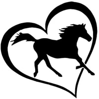 creative horse love heart auto stickers pvc personalized sunscreen truck accessories motorcycle car decoration decal13cm 13cm