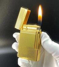 S.T Memorial D upont son lumineux   Briquet Nouveau avec boîte et adaptateur   Numéro de série TT7, or