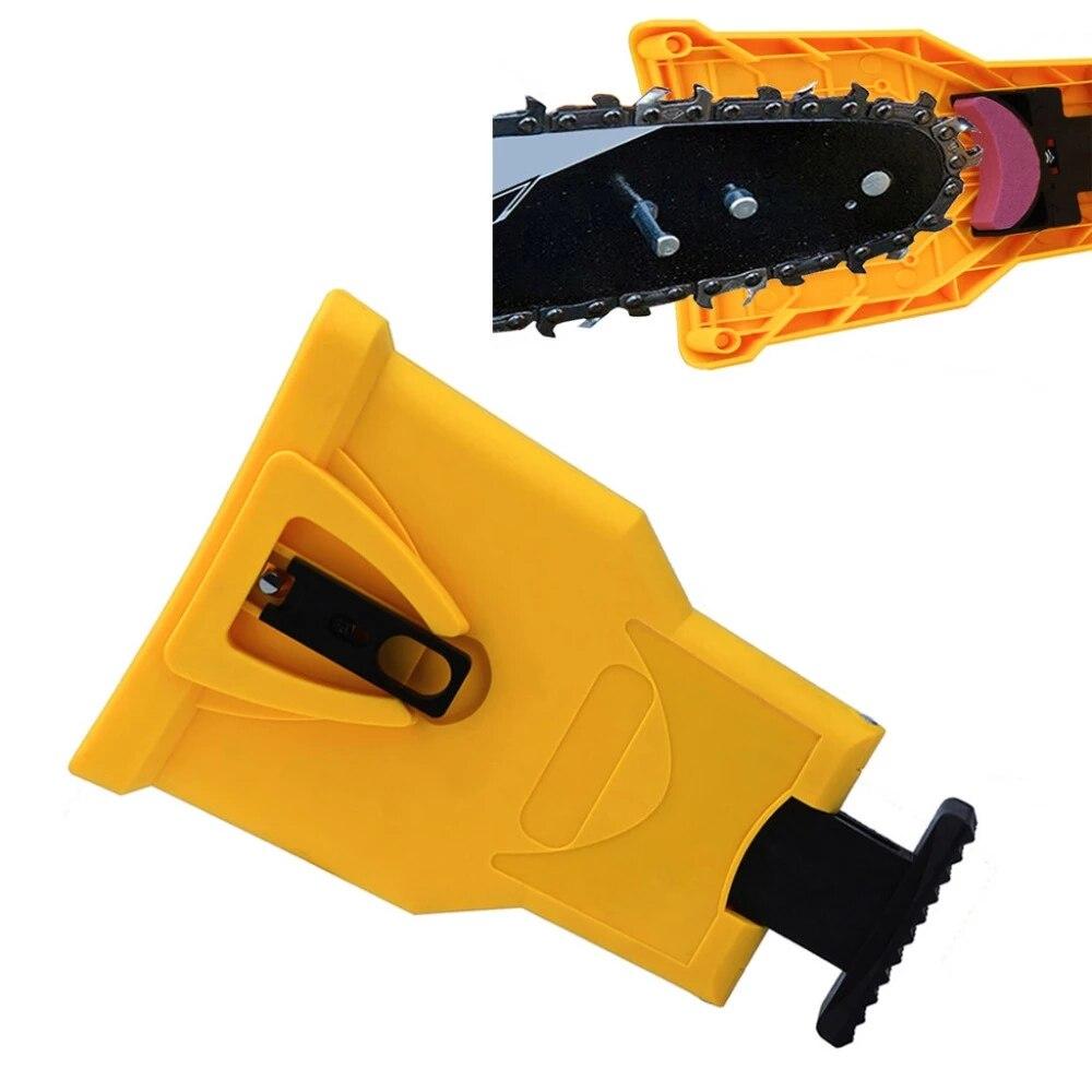 Точилка для зубов бензопилы портативная прочная легкая Мощность ОСТРЫЙ стержень крепление быстрое шлифование бензопилы фотоинструмент