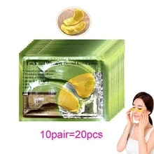 20Pcs = 10Pairs Gold Kristall Kollagen Augen Maske Augenklappen Für Auge Anti-Dark Kreis Aging Akne korean Kosmetik Hautpflege