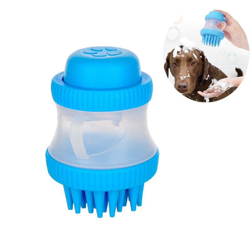Cepillo de limpieza de mascotas, cepillo de masaje, cepillo de lavado para perro, gato, ducha, baño, baño, suciedad, accesorios de mano, limpiador de polvo de silicona suave