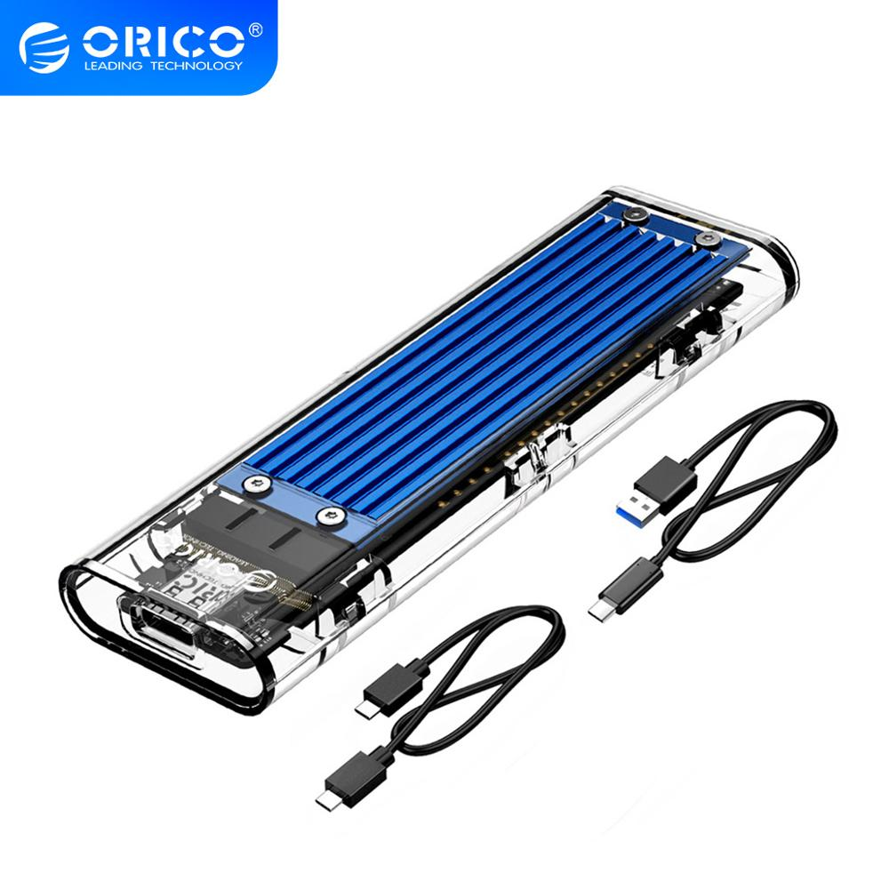 ORICO M.2 to Type-C SSD Enclosure NVME Transparent USB3.1 Gen2 10Gbps Support UASP 2TB for NVME PCIE NGFF SATA M/B Key SSD Disk