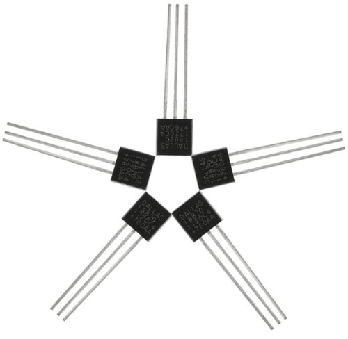5PCS DS18B20 TO-92 18B20 Sensor Electronic chip Temperature IC for arduino sensor hall sensor diy electronic sensor kit