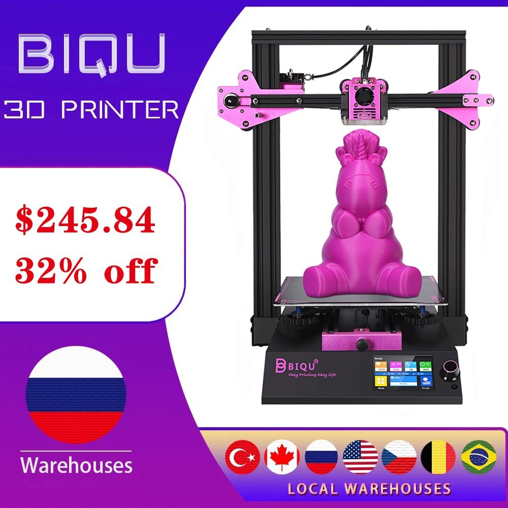 Набор для 3d принтер BIQU B1DIY, размер печати 235*235*270 мм с продолжением печати, экран TFT35, 32-битная материнская плата 3D для начинающих 3д принтер