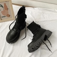 luxury 2021 new women boots ankle fashion high top platform shoes women square heel casual botas de mujer winter boots women
