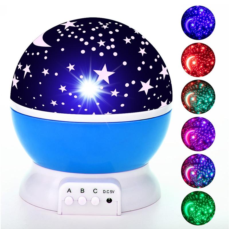 Galaxy Projector Starry Sky Rotating LED Night Light Planetarium Children Bedroom Star Night Lights Moon Light Kids Gift Lamp enlarge