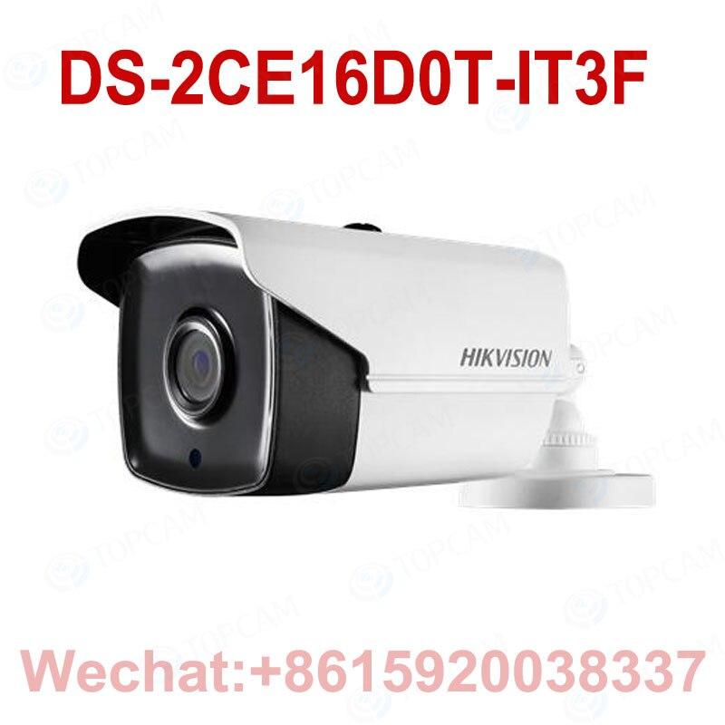 Original HIKVISION International DS-2CE16D0T-IT3F Turbo HD 1080P IR Bullet Camera Switchable TVI/AHD/CVI/CVB Free Shipping