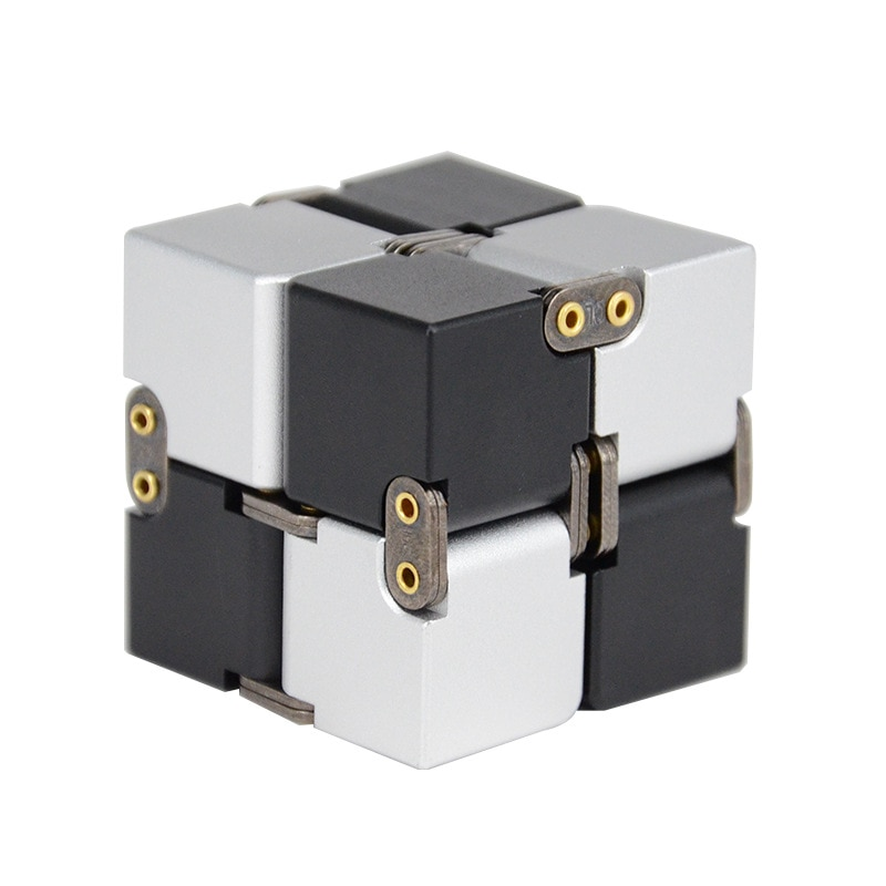 Aluminum Alloy Magical Infinity Cubeb Creative Fidget Toys Infinite Flip Decompression Cubes for Stress Relief enlarge
