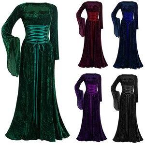 Dresses For Women 2020 Winter Dress Women's Long Dress Vintage Long Sleeve Floor Length Dress Elegant Elven Sexy Dress New