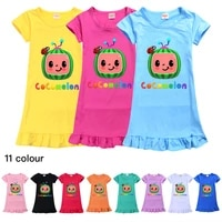 cocomelongraphic tee girls casual o neck casual dresses nightdress kids dresses for girls mommy and me dress flower girl dresses