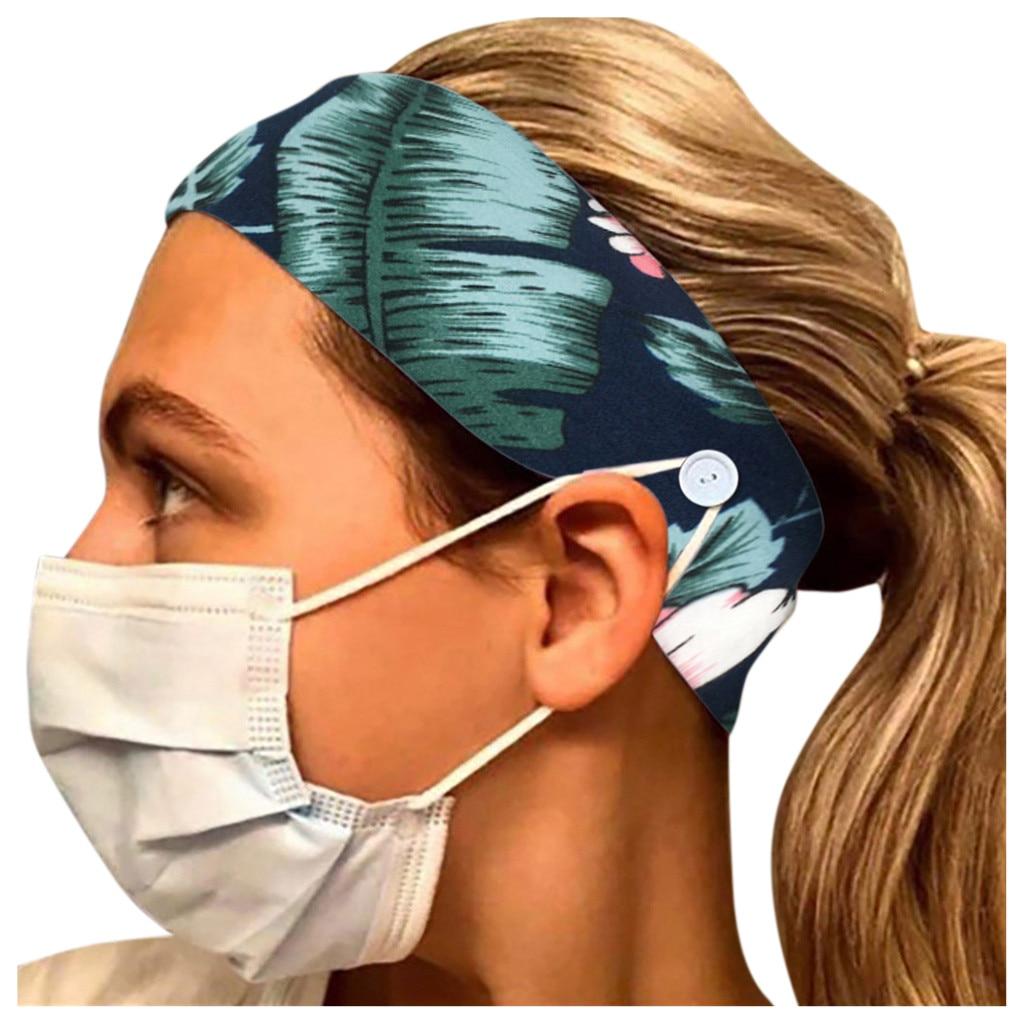 Moda elástico bandas para pelo para mujer Floral Boho máscara de diadema accesorio soporte Universal extensión hebilla antideslizante de la gota