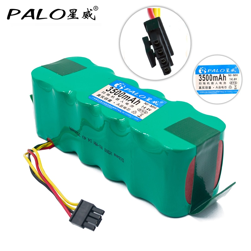 ¡14,4 V Ni-MH 3500mAh batería aspiradora Robot Medio ambiente Pack de batería recargable para Dibea X500/X580 KK8 CR120 ect!