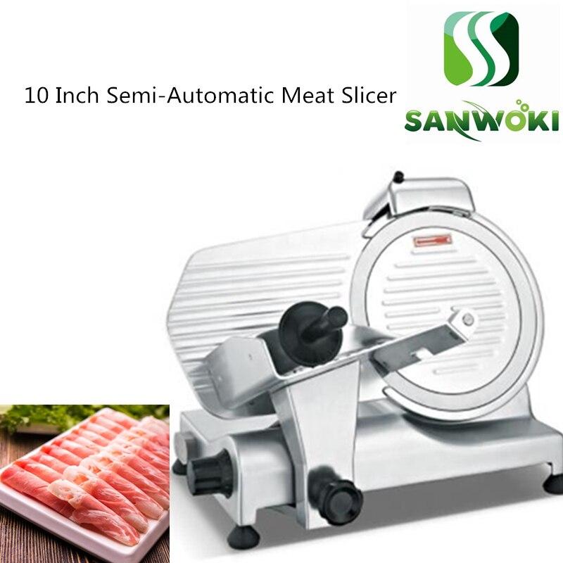 10 inch Meat Slicer machine semi-Automatic frozen beef slicer ham meat planing machine mutton cutting machine lamb cutter