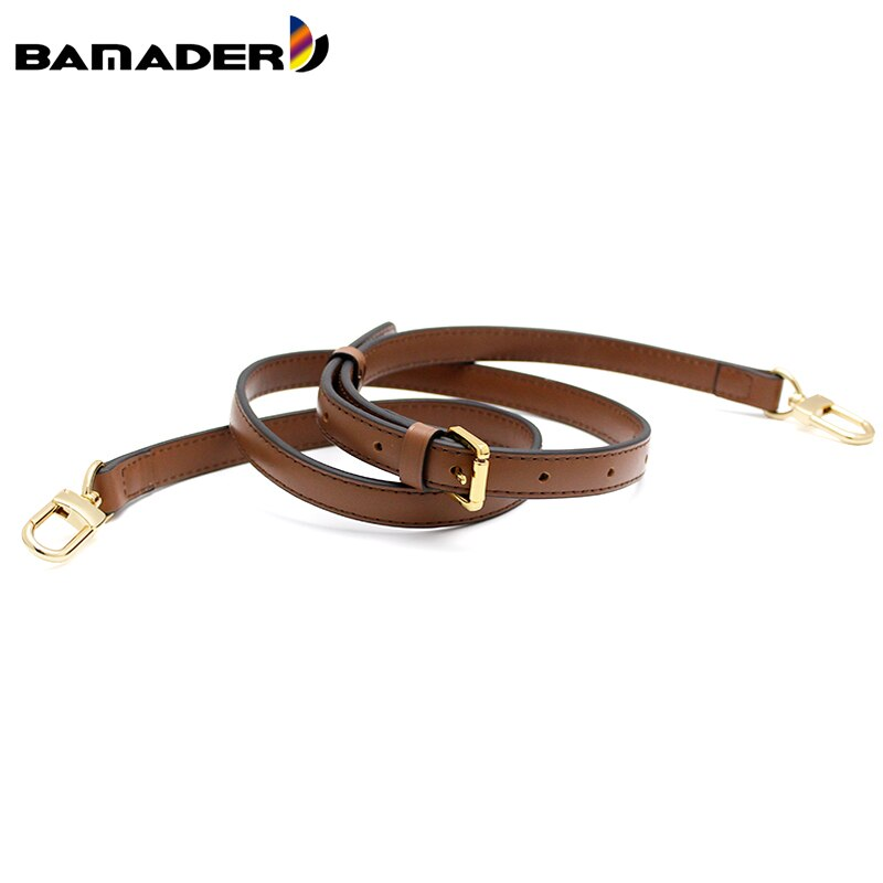 1.2/1.5/1.8CM Bag Strap BAMADER Bag Accessories Replacement Luxury Shoulder Bag Strap Real Leather Dark Brown Fashion Bags Strap