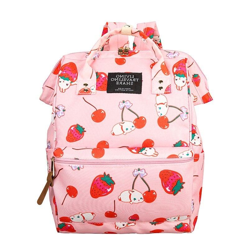 Japanese Ring Backpack Women Back pack Harajuku School Bags for teenage Girls Travel shoulder bag Kawaii print bagpack mochilas