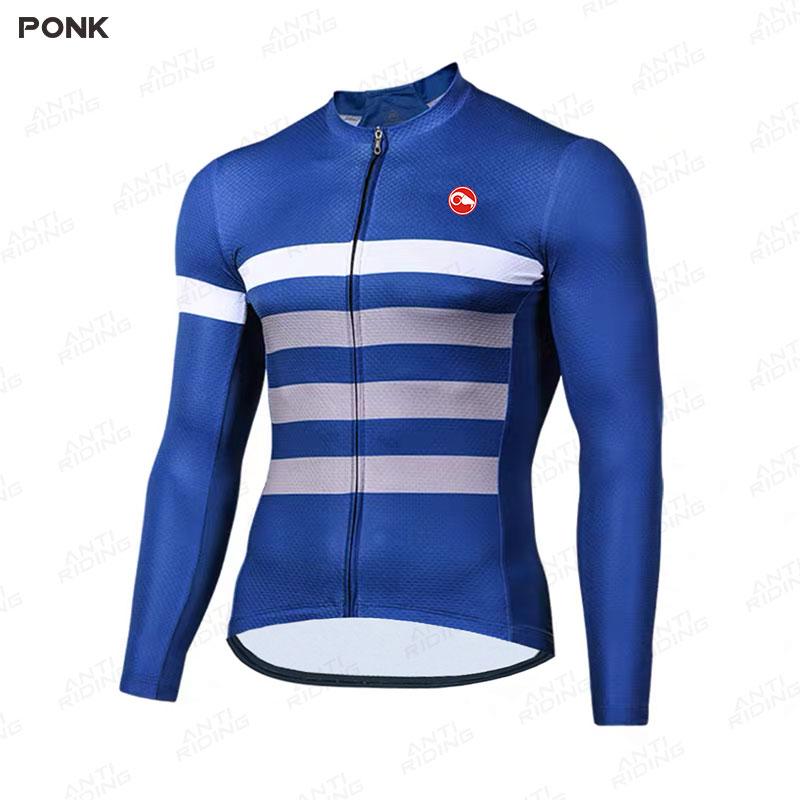 Pro equipo Ciclismo de Polar Jersey Maillot de Ciclismo para invierno de...