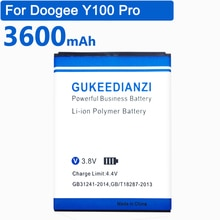 Gukeاديanzi Y100 ل دوغي فالنسيا 2 Y100 برو الهاتف المحمول ليثيوم أيون بوليمر استبدال بطارية 3600 مللي أمبير بطاريات عالية الجودة
