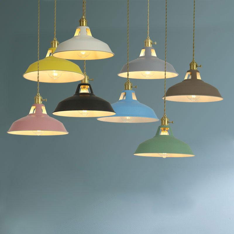 Modern simplicity LED E27 Colorful Pendant light Hanging Lights Home improvement Iron decoration lamp