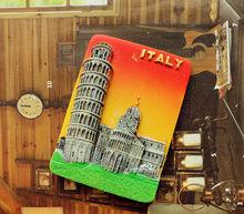 Leaning Tower of Pisa, Italy Tourist Travel Souvenir 3D Resin Decorative Fridge Magnet Gift