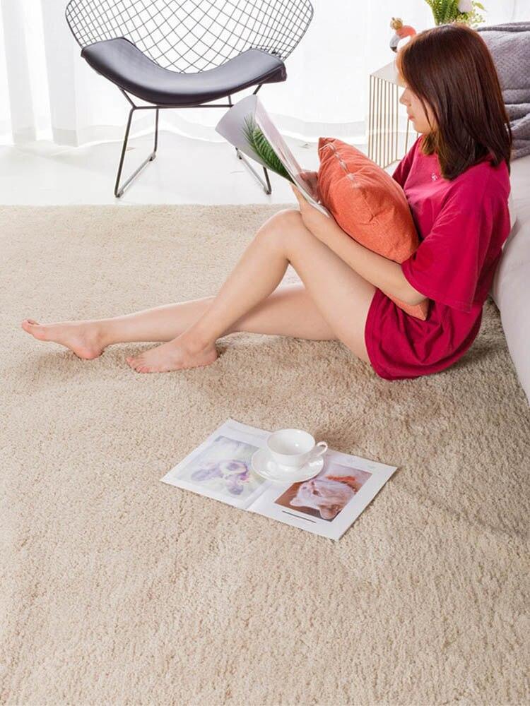 سجادة صلبة مختصر من نوديك لغرفة المعيشة سجادة ناعمة لغرفة النوم أريكة عصرية لطاولة القهوة سجادة أرضية مريحة بجانب السرير