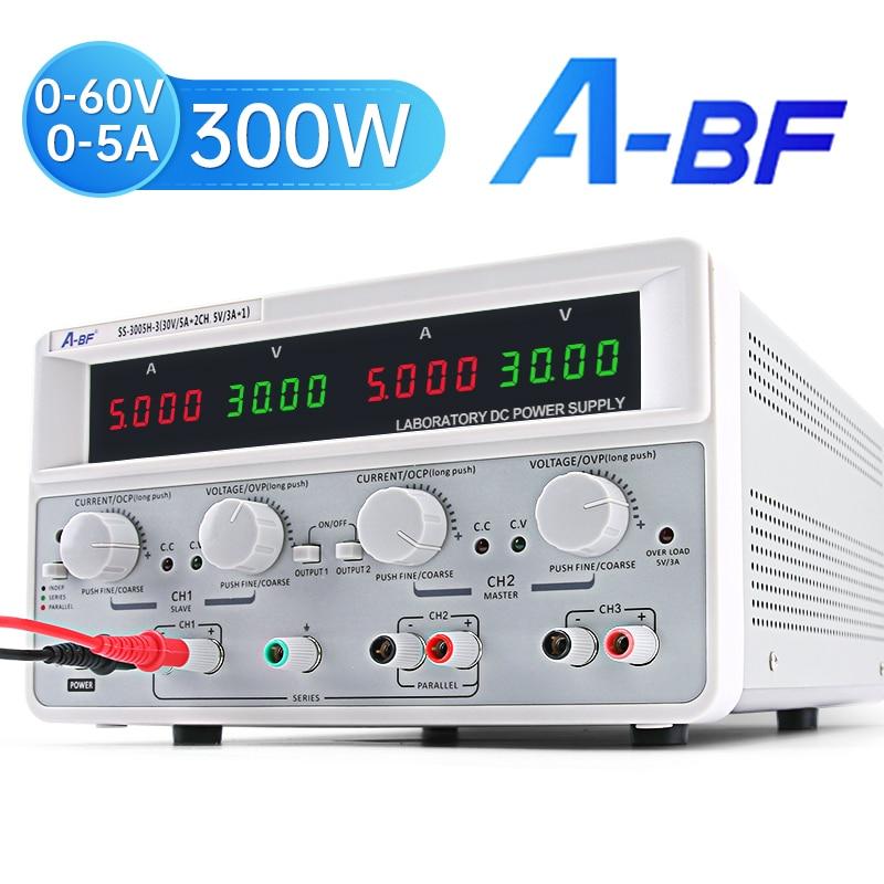 A-BF ثلاثة طريقة قناة الخطي تيار مستمر امدادات الطاقة استقرت قابل للتعديل مختبر الجهد المنظم مختبر وحدة امدادات الطاقة 30 فولت 60 فولت