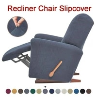 european style recliner stretch sofa cover charcoal thickened fleece recliner protection pad non slip furniture cover