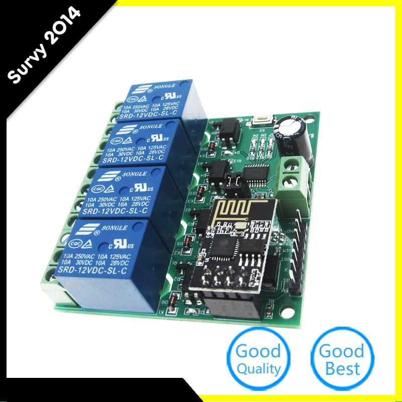 ESP8266 4CH 12V WiFi релейный модуль умный дом мобильное приложение переключатель дистанционного управления diy Электроника